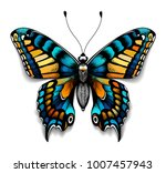 beautiful tattoo for your chest.... | Shutterstock .eps vector #1007457943