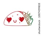 isolated burrito design | Shutterstock .eps vector #1007459833