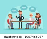 business people working in... | Shutterstock .eps vector #1007466037
