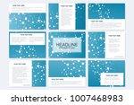 big set of vector templates for ... | Shutterstock .eps vector #1007468983