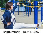physical education in... | Shutterstock . vector #1007470357