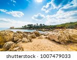 rocks and sand in a small cove... | Shutterstock . vector #1007479033