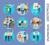 start up people set of posters  ... | Shutterstock .eps vector #1007479513