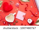 valentines day background. top... | Shutterstock . vector #1007480767
