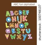 alphabet set design. vector... | Shutterstock .eps vector #100748137