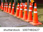 orange traffic cones in the... | Shutterstock . vector #1007482627