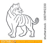 tiger zodiac sign. tiger...   Shutterstock .eps vector #1007492233