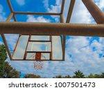 basketball sport court hoop... | Shutterstock . vector #1007501473