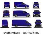realistic cargo van. front view ... | Shutterstock .eps vector #1007525287