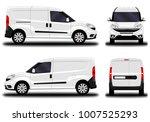 realistic cargo van. front view ... | Shutterstock .eps vector #1007525293