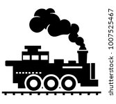 vector retro train logo on... | Shutterstock .eps vector #1007525467