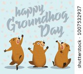 Happy Groundhog Day Card....
