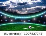 soccer ball on the green field  | Shutterstock . vector #1007537743