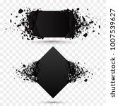 black square stone with debris...   Shutterstock .eps vector #1007539627