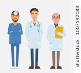 set of doctors characters.... | Shutterstock .eps vector #1007542183