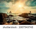 traditional sri lankian sea... | Shutterstock . vector #1007543743
