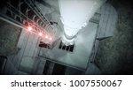 rocket before the start. space...   Shutterstock . vector #1007550067