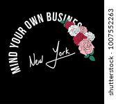 mind your own business fashion... | Shutterstock .eps vector #1007552263