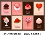 set of valentine s day... | Shutterstock .eps vector #1007552557