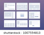 vector set of windows with... | Shutterstock .eps vector #1007554813