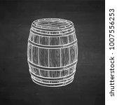wooden barrel of wine or beer....   Shutterstock .eps vector #1007556253