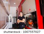 firefighter  fireman. emergency ... | Shutterstock . vector #1007557027