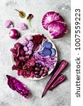 purple buddha bowl with spiral... | Shutterstock . vector #1007559223