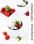 sweet summer ice cream with... | Shutterstock . vector #1007564563