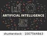 conceptual business... | Shutterstock . vector #1007564863