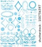 vector set of style design... | Shutterstock .eps vector #100756597