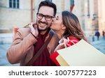 shopping. beautiful young... | Shutterstock . vector #1007577223