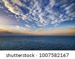 beautiful sunrise on the sea.... | Shutterstock . vector #1007582167