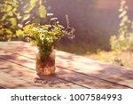 beautiful bouquet of... | Shutterstock . vector #1007584993
