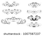 set of floral dividers  borders | Shutterstock .eps vector #1007587237
