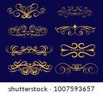 set of florish gold dividers ...   Shutterstock .eps vector #1007593657