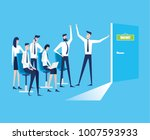 vector business graph  business ... | Shutterstock .eps vector #1007593933