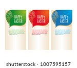 banner templates. happy easter  ... | Shutterstock .eps vector #1007595157