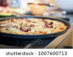authentic homemade tasty pizza... | Shutterstock . vector #1007600713
