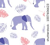 seamless vector pattern with... | Shutterstock .eps vector #1007606623