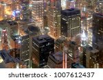 aerial view of chicago downtown.... | Shutterstock . vector #1007612437