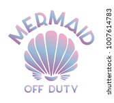 Mermaid Off Duty Quote With Se...