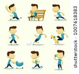 vector cartoon isolated... | Shutterstock .eps vector #1007618383