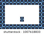 border or frame of abstract... | Shutterstock . vector #1007618833