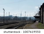 historic railway station in... | Shutterstock . vector #1007619553
