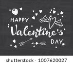happy valentine's day greeting... | Shutterstock .eps vector #1007620027