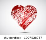 set of hearts . grunge stamps... | Shutterstock .eps vector #1007628757