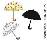 umbrella illustration vector | Shutterstock .eps vector #1007634397