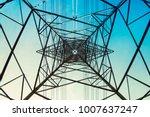 high voltage post power line...