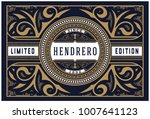 vintage design with floral frame | Shutterstock .eps vector #1007641123