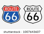 route 66 sign. the first road... | Shutterstock .eps vector #1007643607